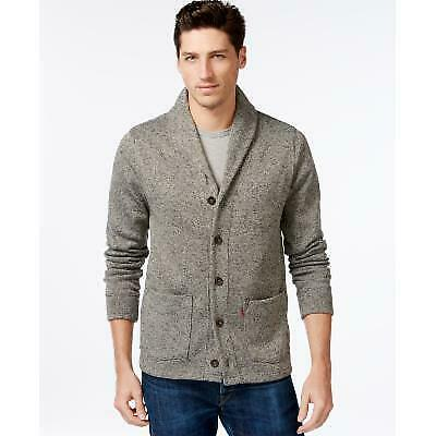 $19.99 • Buy Levi's Mens Gray Lightweight Heather Long Sleeve V Neck Classic Fit Button Down