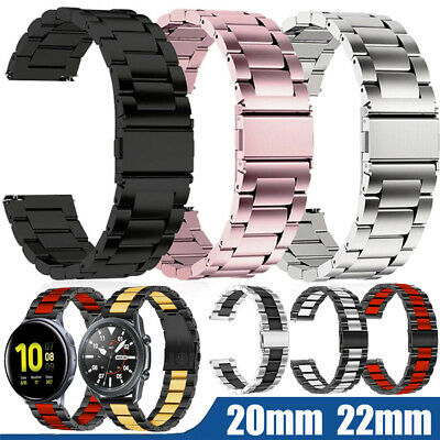 AU12.99 • Buy For Samsung Smart Watch Band Wristband Straps Stainless Steel Bracelet 20mm 22mm