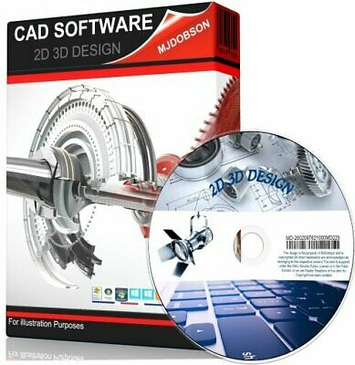 2D & 3D Modelling Suite On DVD. Professional Computer Aided Design CAD Software • 4.49£