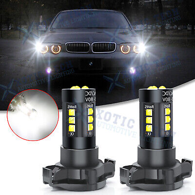 $16.99 • Buy White Front Turn Signal Light PY24W 15SMD LED Bulbs For BMW E90 E92 M3 2008-2012