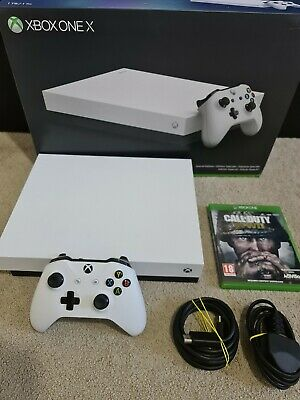 AU432.74 • Buy Microsoft Xbox One X 1TB SPECIAL EDITION WHITE, TRUE 4K GAMING, 2 GAMES BUNDLE@