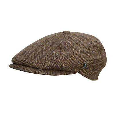 £29 • Buy City Sport - Donegal Tweed 6 Piece News Boy Cap - 3172 Brown Speckled Size 59