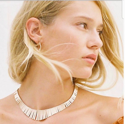 £17.69 • Buy Free People Faye Grecian Collar Necklace Gold