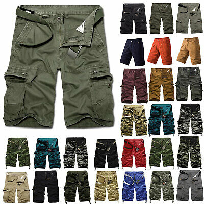 $29.19 • Buy Men's Multi Pockets Relaxed Fit Outdoor Casual Military Army Cargo Shorts Pants