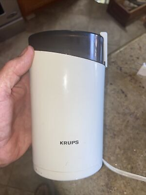 £8.69 • Buy KRUPS Coffee Grinder With Stainless Steel Blades, White