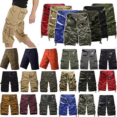 $29.19 • Buy Mens Cargo Shorts Summer Loose Short Pants Casual Pockets Military Work Trousers
