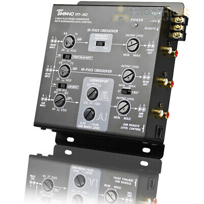 $ CDN78.89 • Buy Timpano 3 Way Electronic Crossover With Sub Remote 5 Volt RCA Outputs TPT-360