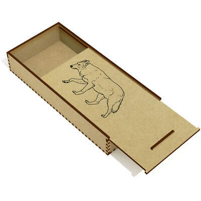 £6.99 • Buy 'Wolf' Wooden Pencil Case / Slide Top Box (PC00025244)