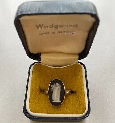 £29 • Buy Vintage Ring Wedgwood Cameo Lady With Harp - Sterling Silver - In Original Box