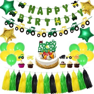 AU45.41 • Buy Farm Tractor Theme Party Decorations Set, Tractor Party Supplies For Kids/Boys/G