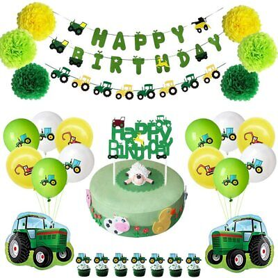 AU58.77 • Buy JOPARY Farm Green Tractor Themed Party Supplies John Deere Birthday Decorations