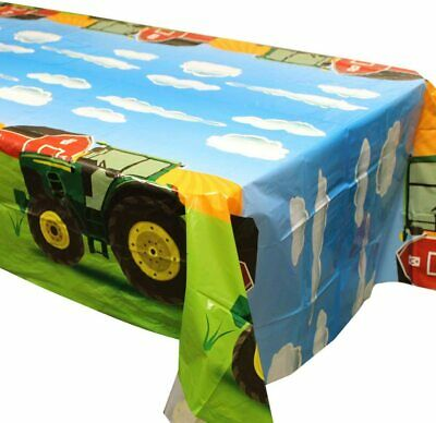 AU48.08 • Buy Tractor Party Tablecovers (2), Tractor Birthday Party Supplies, Tractor Table De