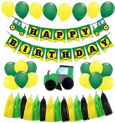 AU40.06 • Buy 44 PCS Green Tractor Party Supplies Tractor Happy Birthday Baby Shower Decorati