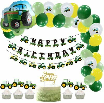 AU58.77 • Buy Farm Green Tractor Themed Party Supplies Balloon Garland Kit Tractor Foil Balloo