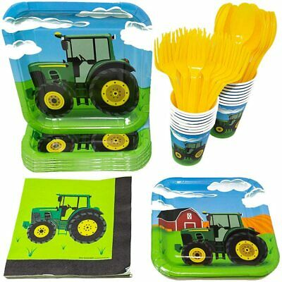 AU74.80 • Buy Tractor Party Supplies Pack (113+ Pieces For 16 Guests!), Tractor Birthday Kit,