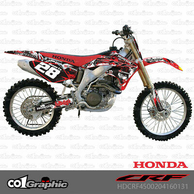 $122 • Buy Graphics Decals Stickers Full Kit For Honda Crf450r 2002-2004