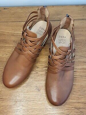 AU90 • Buy ZIERA By KUMFS Malia Super Support Ankle Boots Tan Leather SZ 40 BRAND NEW NOBOX