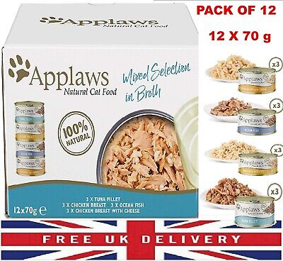£12.51 • Buy Applaws Natural Wet Cat Food Multipack Fish Chicken Mixed Selection 12x70g