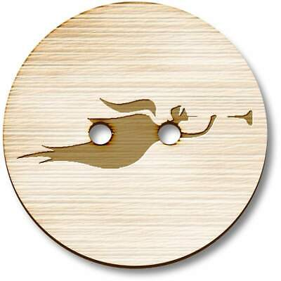 £3.99 • Buy 'Angel With Trumpet' Wooden Buttons (BT012837)