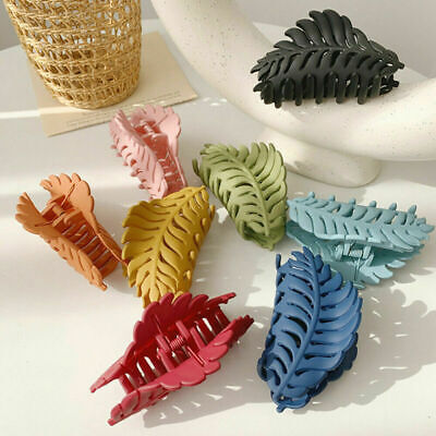 $ CDN3.38 • Buy 2021 Women Lady Large Hair Claw Clamps Clips Leaves Claw Clamp Hair Accessories