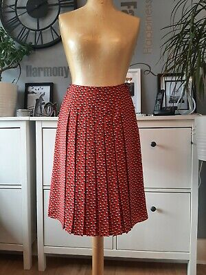 £14.99 • Buy Beautiful JAEGER Pleated Red Skirt Size 6