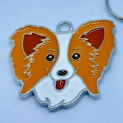 £2.95 • Buy Papillon Dog Charm Zip Pull Keyring Craft Jewellery Making Cute Little Gift