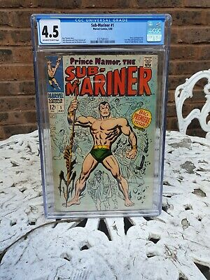 AU539.93 • Buy Sub-mariner 1 Black Panther 2 Silver Age Marvel Comic Cgc Red Hot Key