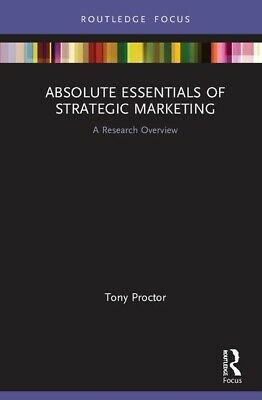 £51.70 • Buy Absolute Essentials Of Strategic Marketing: A Research Overview