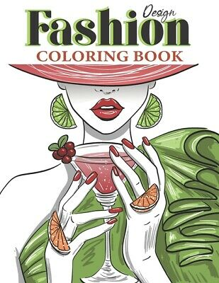 AU14.04 • Buy Fashion Design Coloring Book: Dover Fashion Art For Teens And Adults - Vogu...