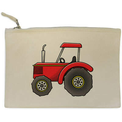 AU17.98 • Buy 'Red Tractor' Canvas Clutch Bag / Accessory Case (CL00017504)