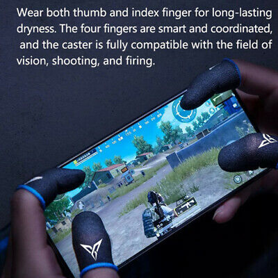 AU9.27 • Buy 1Pair Sweat-proof Mobile Game Thumb Finger Sleeve Touch Screen Sensitive Golv YK