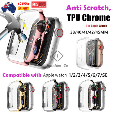 AU7.99 • Buy For Apple Watch IWatch 6 5 4 3 2 1 SE 44/40/42/38 Mm FULL WATCH Protector AUS