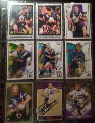 AU15 • Buy 9 X Autographed Melbourne Storm Assorted Nrl Rugby League Trading Cards