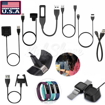 $ CDN8.48 • Buy USB Charger Charging Cable For Fitbit Alta Blaze Charge HR Surge Versa Flex /2 E