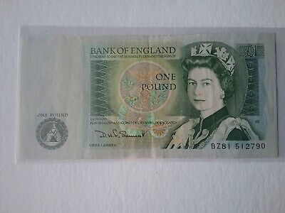 Old Bank Of England One Pound Note £1 Somerset • 2.50£