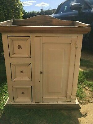 Solid Wood Unit Cabinet Cupboard For Refurb / Upcycle Project • 35£