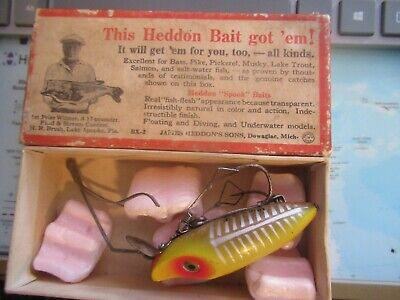 $ CDN56.43 • Buy Vintage Heddon River Runt Spook Sinker Weedless Yellow Shore With Old Heddon Box