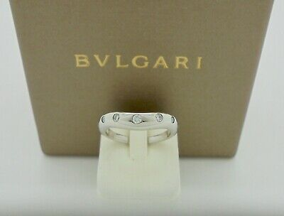 AU1760 • Buy Authentic Bvlgari Bulgari Corona Diamond Platinum Wedding Band Ring 48 RRP$3,760