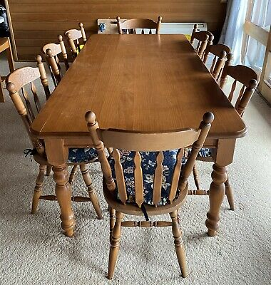 AU300 • Buy Timber 8 Seater Dining Table Very Sturdy