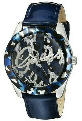 $ CDN60.90 • Buy Guess Women's Blue Leopard Dial Patent Leather Band 39mm Watch