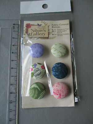 £2.49 • Buy Papermania Fabric Covered Buttons For Craft - Natures Gallery