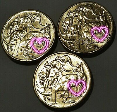 AU5.50 • Buy 2019 Australian One Dollar $1 - A,U,S Privy Mark - Set Of 3 Coins - RARE RARE