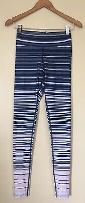 AU15 • Buy WOMENS 'DHARMA BUMS' Size S BLUE WHITE PINK STRIPE 7/8 ANKLE LENGTH LEGGINGS