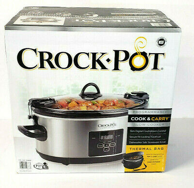 $ CDN57.63 • Buy Crock-Pot - 7 Qt Programmable Cook & Carry Slow Cooker W/Thermal Carry Bag - NEW