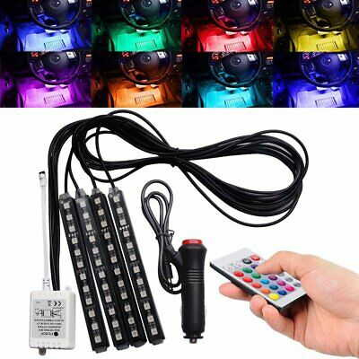 $19.67 • Buy Parts Accessories RGB LED Lights Car Interior Floor Decor Atmosphere Strip Lamps
