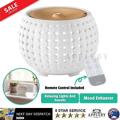 AU116.97 • Buy Homedics Ellia Gather Ultrasonic Essential Oil Mist Aroma Ceramic Diffuser White