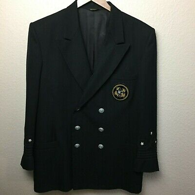 $34.65 • Buy Southern Yacht Club Flying Cross Suit Jacket Crest 44R Wool Blend USA Made