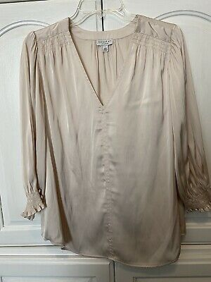 $ CDN24.26 • Buy Anthropologie Current Air Large Blush Pink Long Sleeve Blouse Tunic L. 🌸
