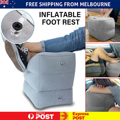 AU15.98 • Buy Travel Air Pillow Foot Rest Inflatable Cushion Office Home Car Leg Footrest Bed