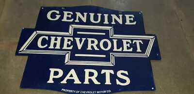 $ CDN129.31 • Buy Porcelain Chevrolet Genuine Parts Enamel Sign Size 24  X 18  Inches Double Sided